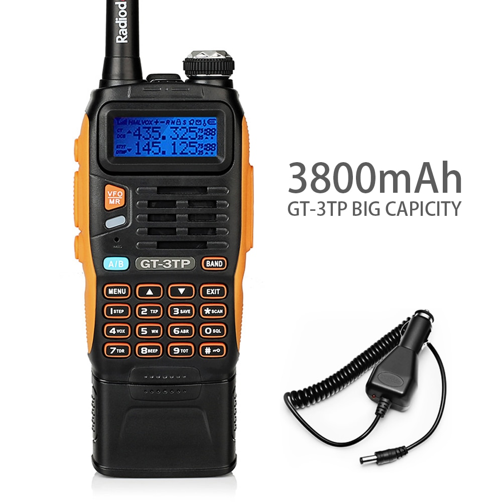 3800mah bateria baofeng GT-3TP markii 8w banda dupla v/presunto uhf rádio bidirecional walkie talkie transceptor