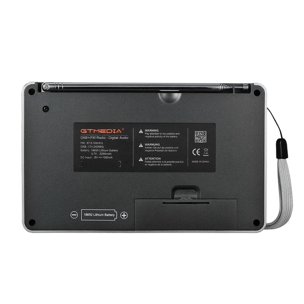Radio GTMEDIA D2 Portable DAB Digital Bluetooth Speaker AUX IN TF Card Slot MP3 Player Recording Clock Alarm Sleep Timer enlarge