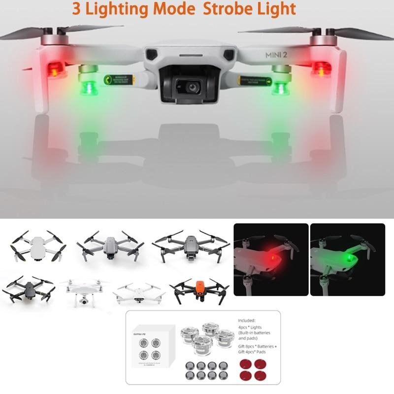 Drone Flash estroboscópico lámpara de noche vuelo luz para DJI Mavic 2...