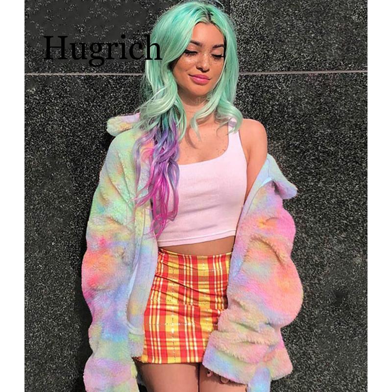 2020 Zipper Coats And Jackets Women Colorful Oversized Harajuku Jacket Ladies Plus Size Streetwear Autumn