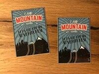 mountain reise aufkleber koffer backpacker travel work retro oldtimer tr007