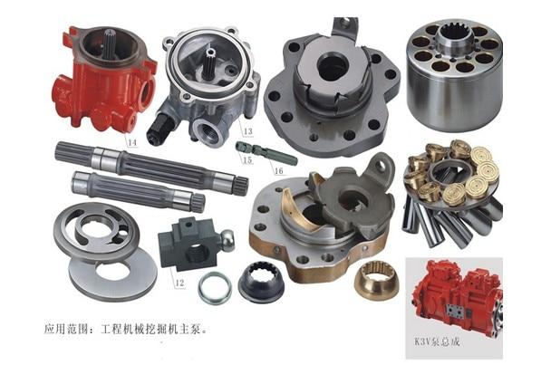 Kawasaki K3V112DT مضخة إصلاح أطقم ، مضخة زيت هيدروليكية ، أجزاء هندسية ، مضخة مكبس K3V112DT ، قطع غيار