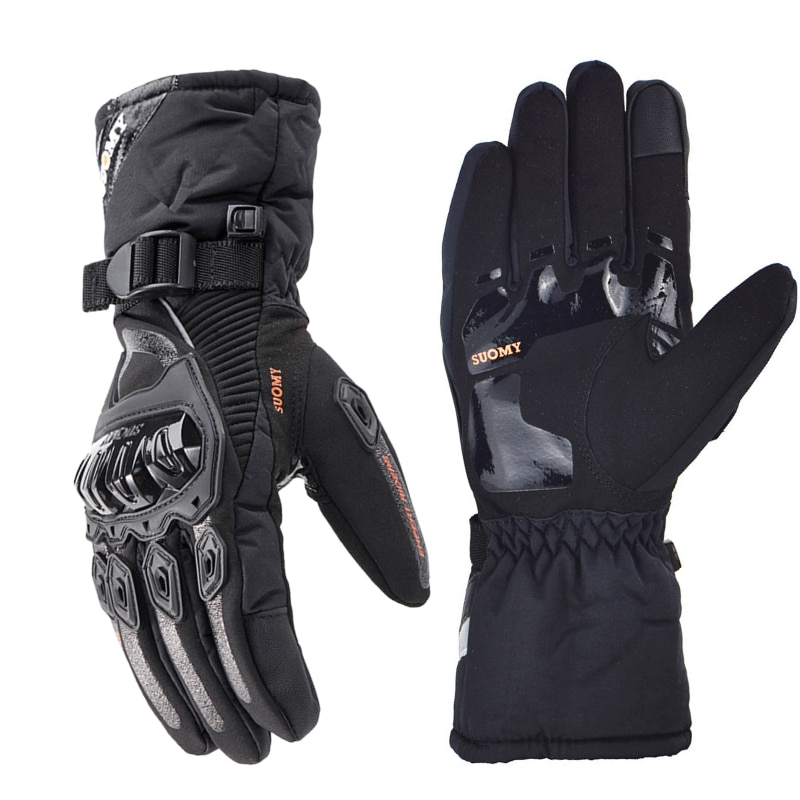 SUOMY Winter Motorcycle Gloves Waterproof Warm Motorcross Gloves Touch Screen Moto Motorbike Glove Men Motorcycle Racing Gear