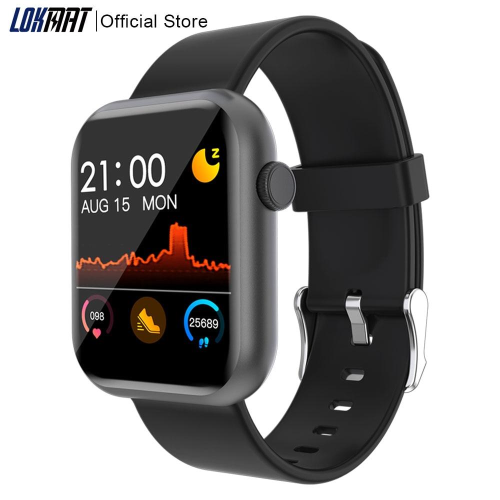 ¡Nuevo! Reloj inteligente LOKMAT con Bluetooth, táctil completamente, rastreador de Fitness, reloj Digital de ritmo cardíaco, reloj inteligente GTS para mujer, para IOS y Android