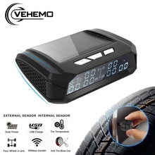Universal For Truck Car Tire Pressure Monitoring System TPMS USB Solar Charge External Sensor Tyre T
