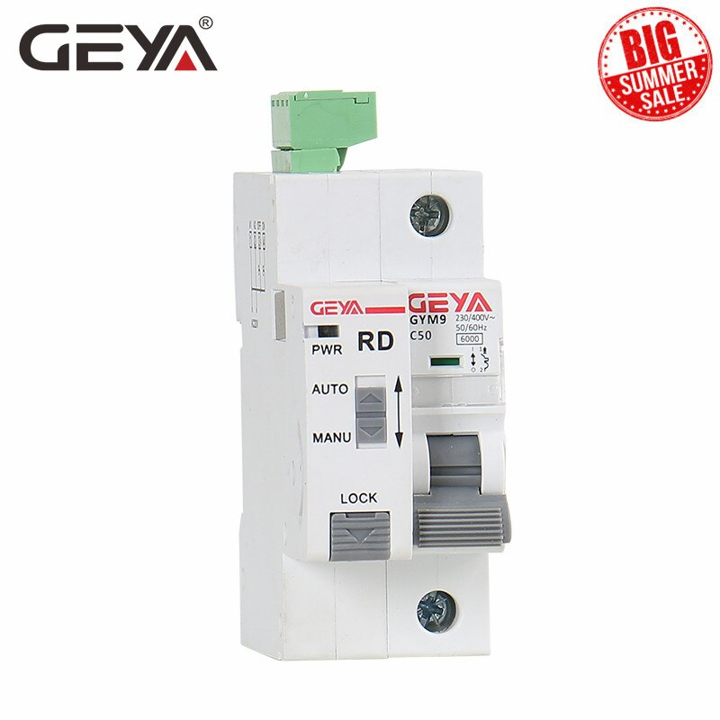 GEYA Din السكك الحديدية جم9 1P MCB مع جهاز تلقائي إعادة تعيين قطاع دارة المنزل الذكي MCB السيارات Recloser