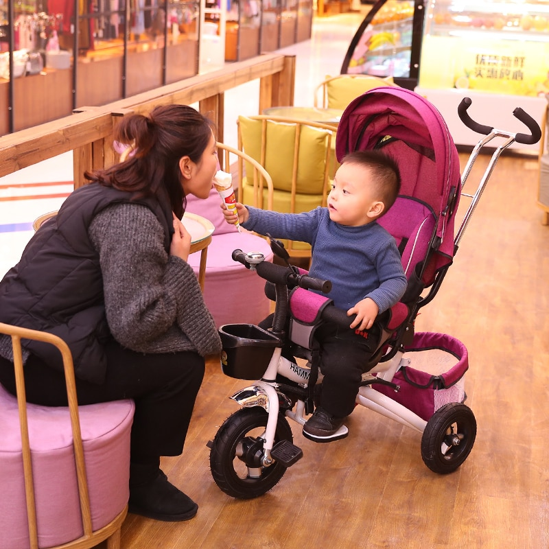 Children's Tricycle Baby Toys Bike Rotatable Folding Baby Trolley 1-3-5 Years Old Stroller enlarge