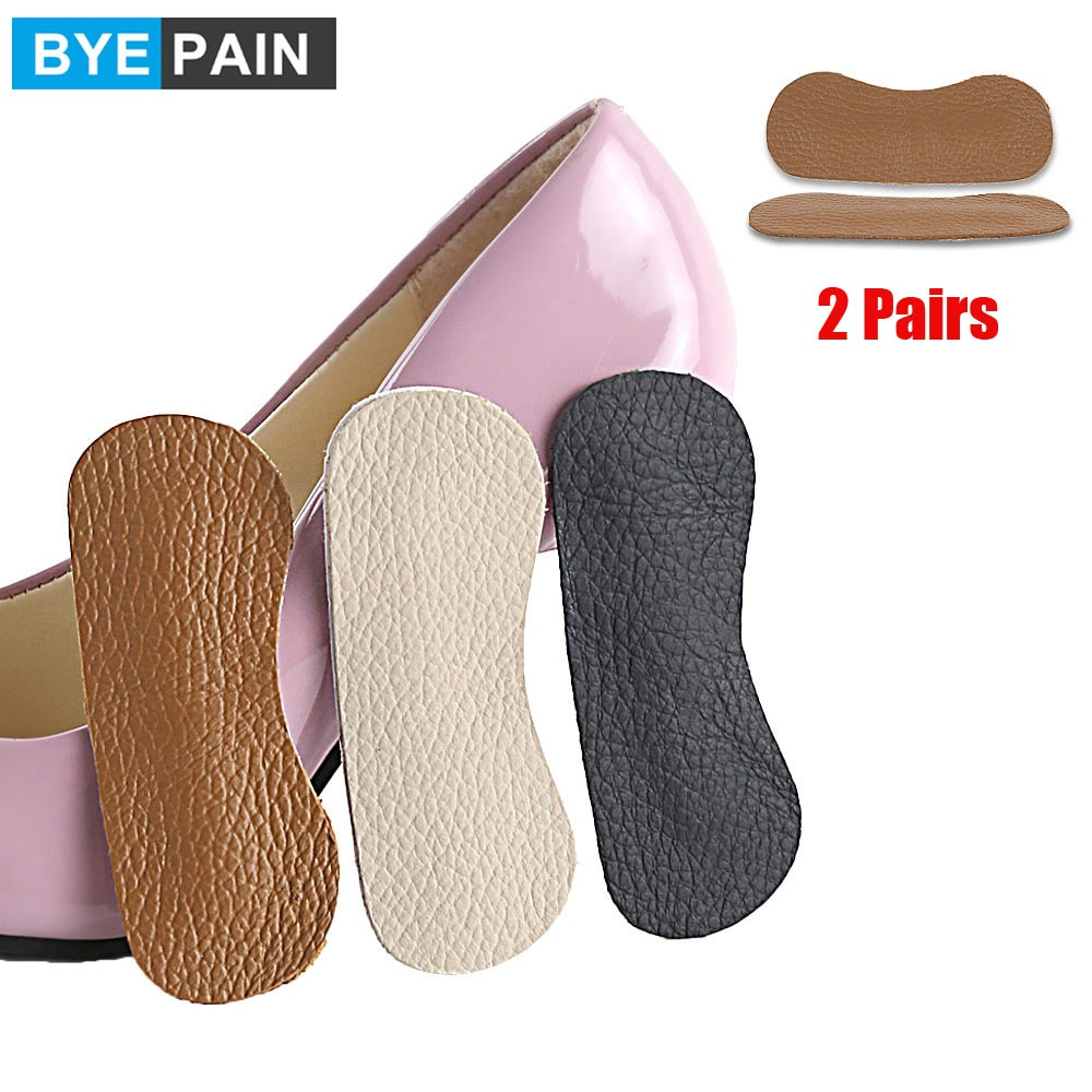 soumit 5 pair heel pad wear resistant fashion heel protector foot adhesive liner pads pain relief cushion for women shoe sole 2Pair BYEPAIN Cowhide Foot Care Heel Cushion Pads Heel Shoe Grips Liner Self-adhesive Shoe Insoles Foot Care Protector