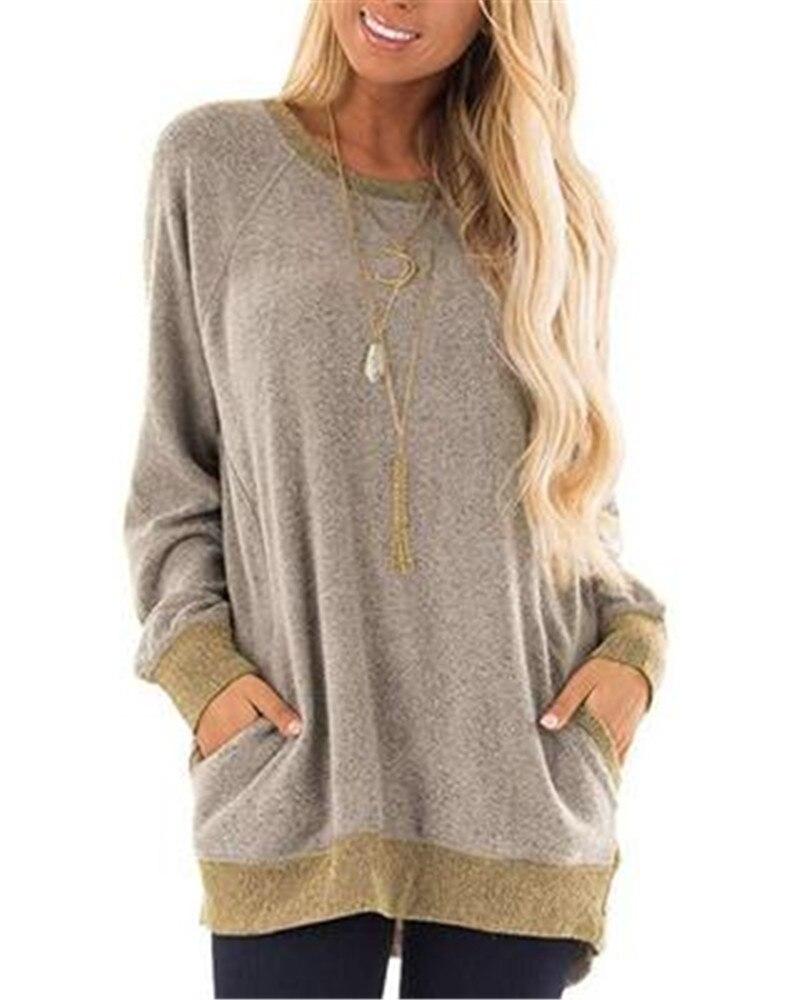 Suéter de manga larga con bolsillo para mujer, Tops deportivos para Fitness de algodón, chaquetas cálidas para Yoga, ropa deportiva para correr, ropa deportiva suelta para S-XXL