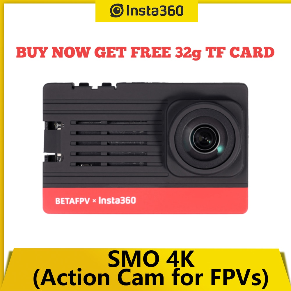 Спортивная камера Insta360 BETAFPV SMO 4K, ультраширокоугольная легсветильник перекрестная машина, портативная для Beta95X V3 HD, радиоуправляемая камера,...