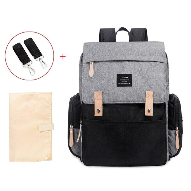 Bolsas de pañales para madre de tierra auténtica, mochilas de pañales de viaje de gran capacidad con cremallera antipérdida, bolsas para lactantes para bebés, novedad