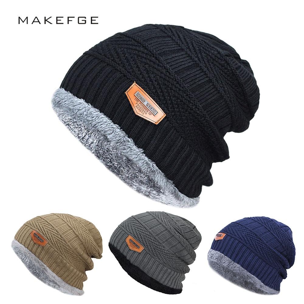 Новинка Мужская зимняя шапка Модные вязаные черные шапки Осенняя шапка толстая и теплая шапка мягкие вязаные шапки из хлопка