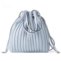 brand design pu leather shoulder bag pleated stripe bucket bag ladies crossbody bag for women bag 2020 handbag
