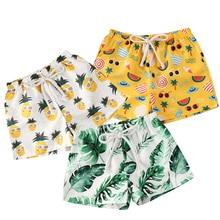 1-4Years Toddler Kids Baby Girl Boy Polyester Printed Short Pants Beach Shorts Bottoms Panties 0-4Years