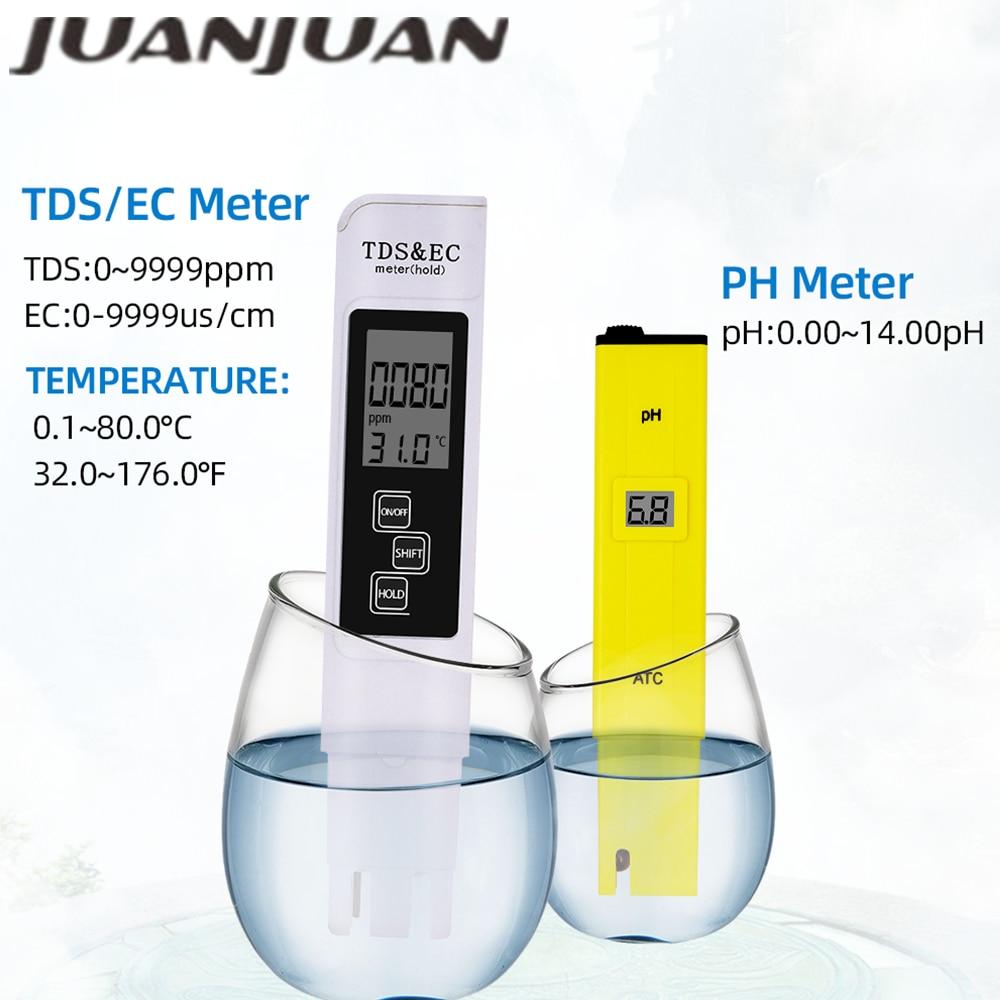 Pen PH Pocket Tester Quality Measure Range 0.0-14.0pH +TDS EC meter Water Filter Purity for Aquarium Pool Water Laboratory 49%Of