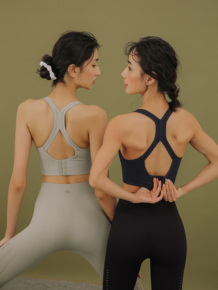 The stormy Lori sports lingerie lingerie women's running yoga vest without a steel ring gathered around