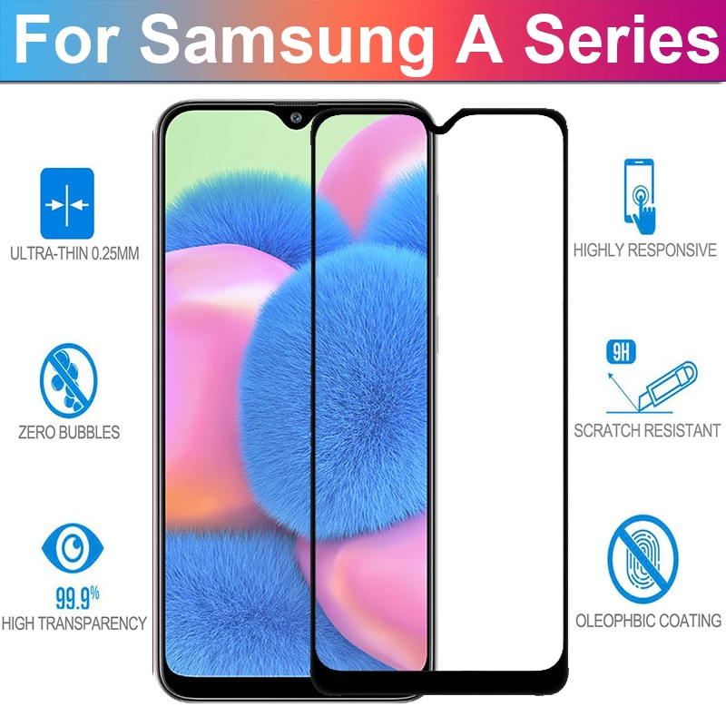 Full Glue Samsun A30 S Glass Protective Film On For Samsung Galaxy A30S A30 Glass Samsun A 30S 30 S screen protector a305F a307F