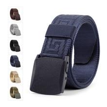 Plastic Buckle Cloth Belt Hot Fashion Casual Canvas Belt Men's and Women's Individual Decorative Jeans 3.8cm Belts Ceinture