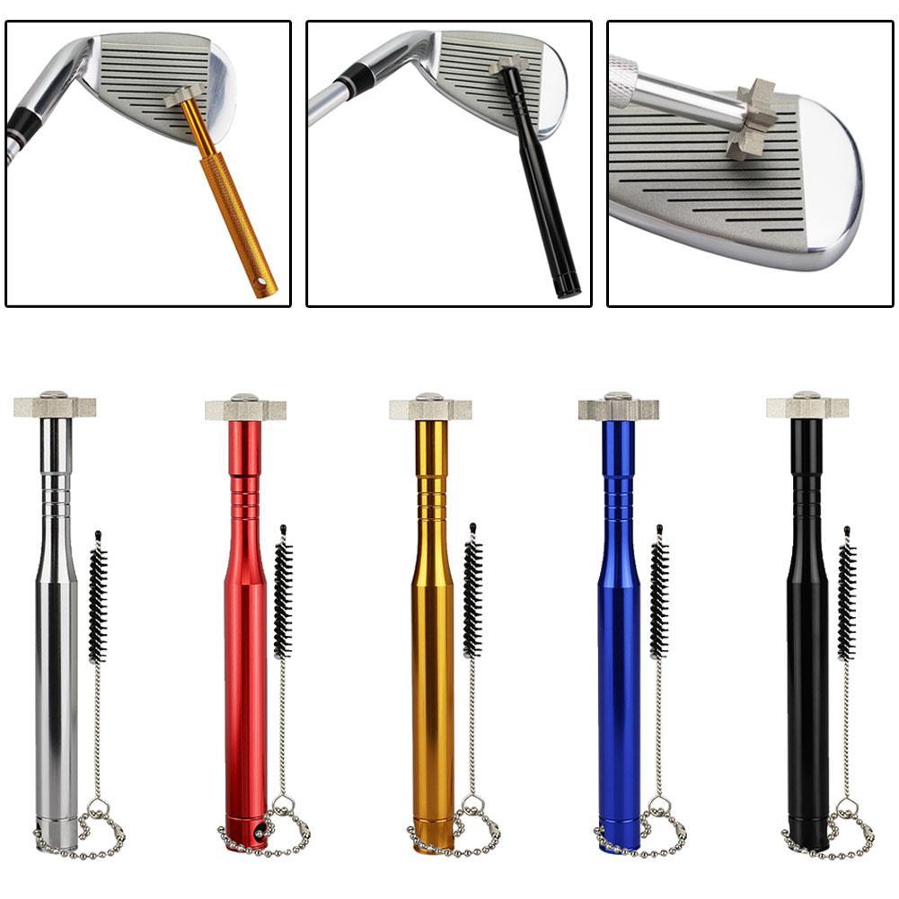 Golf Club cabeza Metal fuerte cuñas ranurado limpieza afilador herramienta afilador Golf accesorios de entrenamiento para el principiante amante del golf