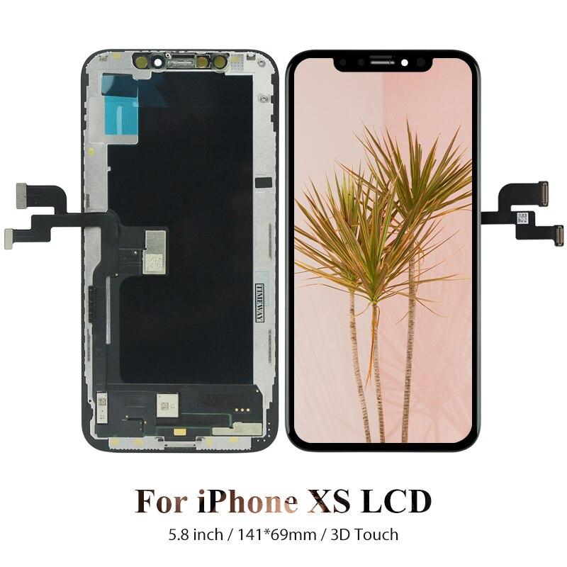 آيفون xs استبدال الشاشة أوري لشاشات lcd أبل 5.8 بوصة الهواتف النقالة عرض محول الأرقام الجمعية سعر الجملة