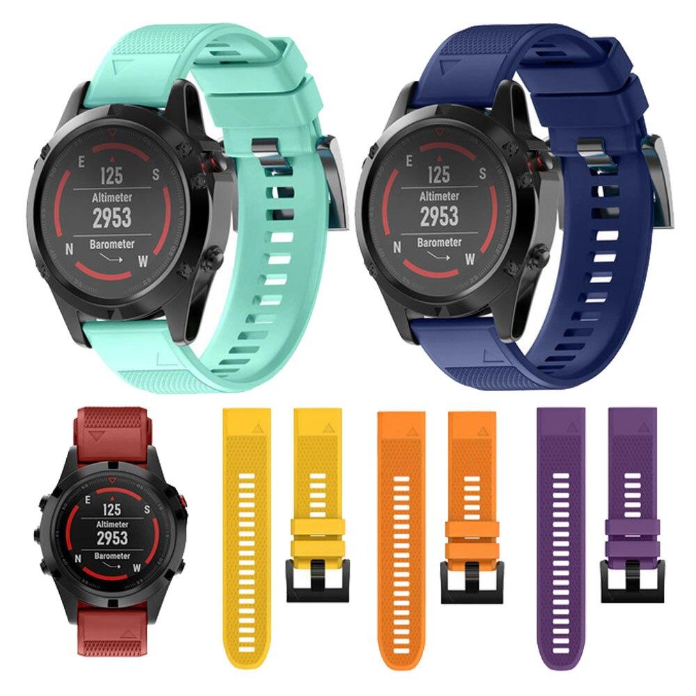Correa de reloj 26 20 22MM para Garmin Fenix 5 5X 5S 3 HR para reloj Fenix 5X Plus S60 correa de muñeca de silicona de liberación rápida Easyfit