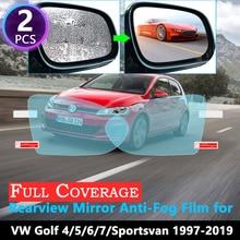 Film Anti-brouillard pour VW Golf 4 5 6 7 Sportsvan MK4 MK5 MK6 1J 1K 5K 5G 1997 ~ 2019 rétroviseur   Film complet imperméable