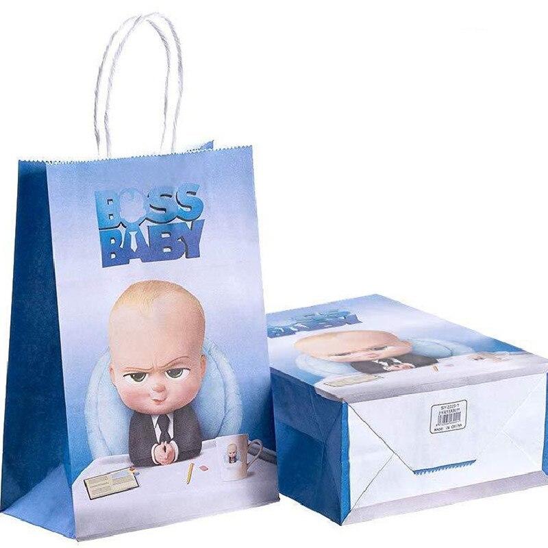 12 pçs chefe tema do bebê festa saco de papel crianças aniversário do bebê chá de fraldas festa suprimentos decorações