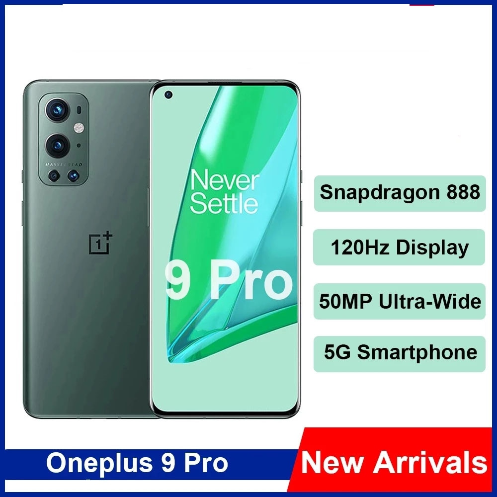 Original OnePlus 9 Pro 5G Smartphone 6.7inch LTPO AMOLED 120Hz Hasselblad 50MP Ultra-Wide NFC Mobile Phone Snapdragon 888