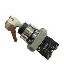 XB2 BG33 sélecteur à clé   3 positions actionné, sélecteur, bouton-poussoir, interrupteur 2N/O, bouton-poussoir
