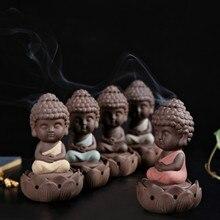Statue de bouddha en céramique brûleur dencens poêle   Bois de santal décoration de maison bobine ornements de budda, brûleur bouddhiste COLIFE sculptures modernes