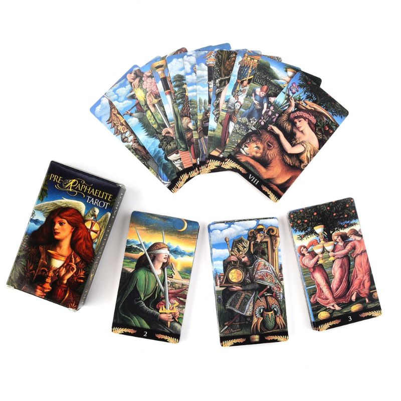 Фото - Full English Pre-Raphaelite Tarot 78 Cards Deck Family Party Board Game Entertainment Playing Card Game Gift geistesing board game 2 8 players family party best gift for children english instructions cards game reaction blitz game
