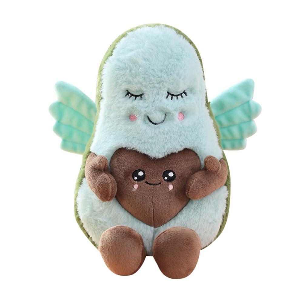 22 см Kawaii пара авокадо плюшевые фруктовые игрушки мультфильм Ангел любовь крылья авокадо папа мама кукла для детей подарок игрушка на День святого Валентина