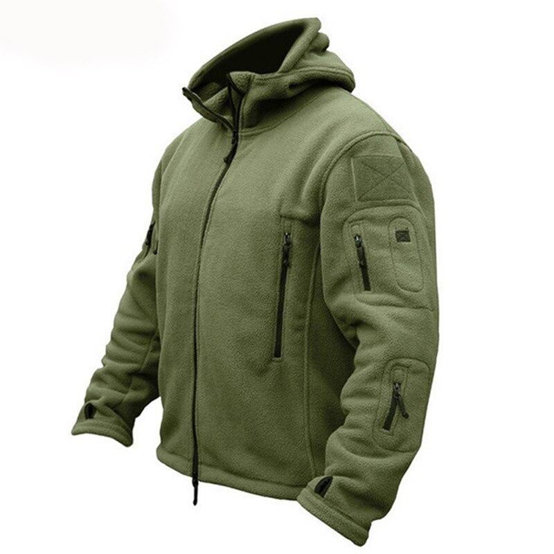 Chaqueta táctica cálida militar de lana de invierno para hombre, chaqueta térmica transpirable con capucha para hombre, abrigo, abrigo, chaquetas de senderismo del ejército