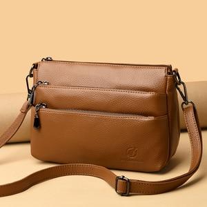 New Fashion Multifunction Flap Bags Ladies Messenger Bags For Women Genuine Leather Handbags Shoulder CrossBody Bags Female