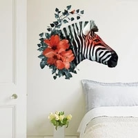creative colorful zebra wall stickers for living room bedroom kids walls art decor decals removable animal stickers home decor