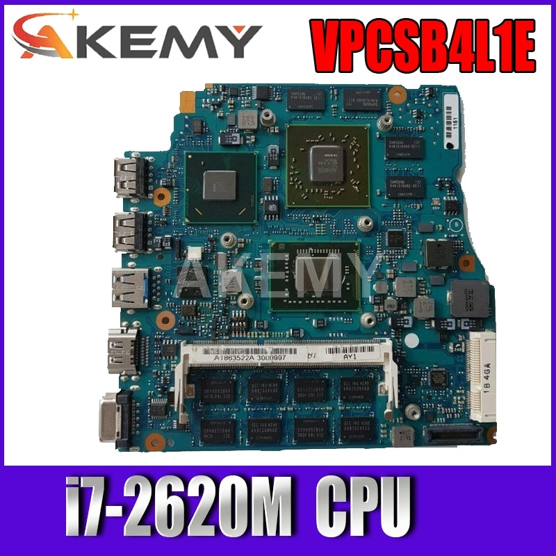 Akemy 13.3 بوصة لسوني VPCSB1AGX VPCSB اللوحة الأم للكمبيوتر المحمول MBX-237 A1820750A HM67 i7-2620M 4 جيجابايت رام HD 6630 متر 1 جيجابايت 100% اختبارها
