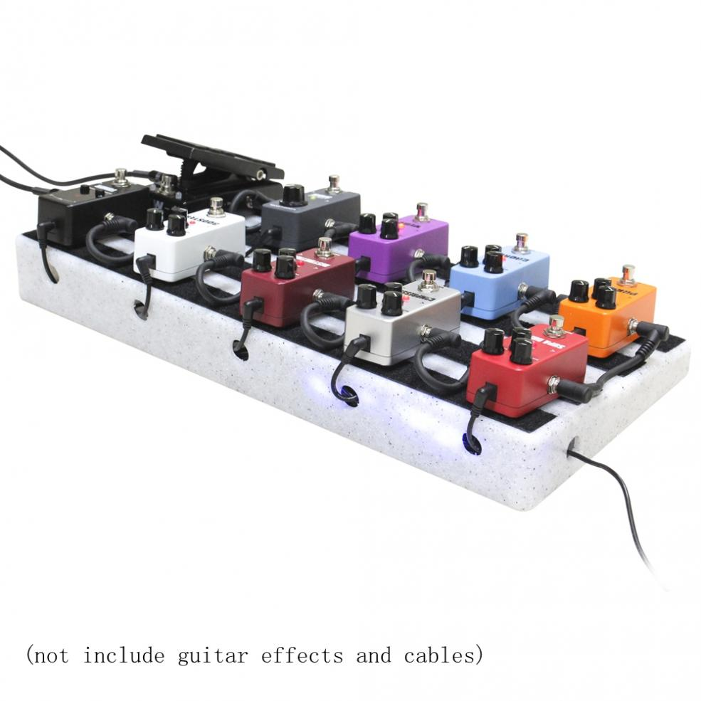 50 x 25cm Guitar Pedal Board Special Engineering Plastic DIY Guitar Effect Pedalboard Support Placed 10-15 Effects with Bag enlarge