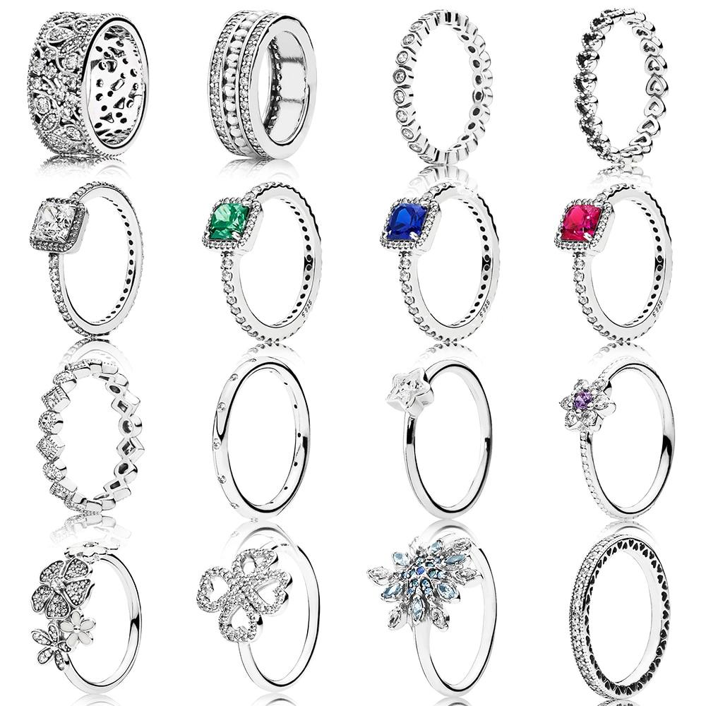 2019 100% Plata de Ley 925 de moda encantador pequeño corte joyería de las mujeres encantador llamativo anillo de la princesa luminoso anillo de hoja