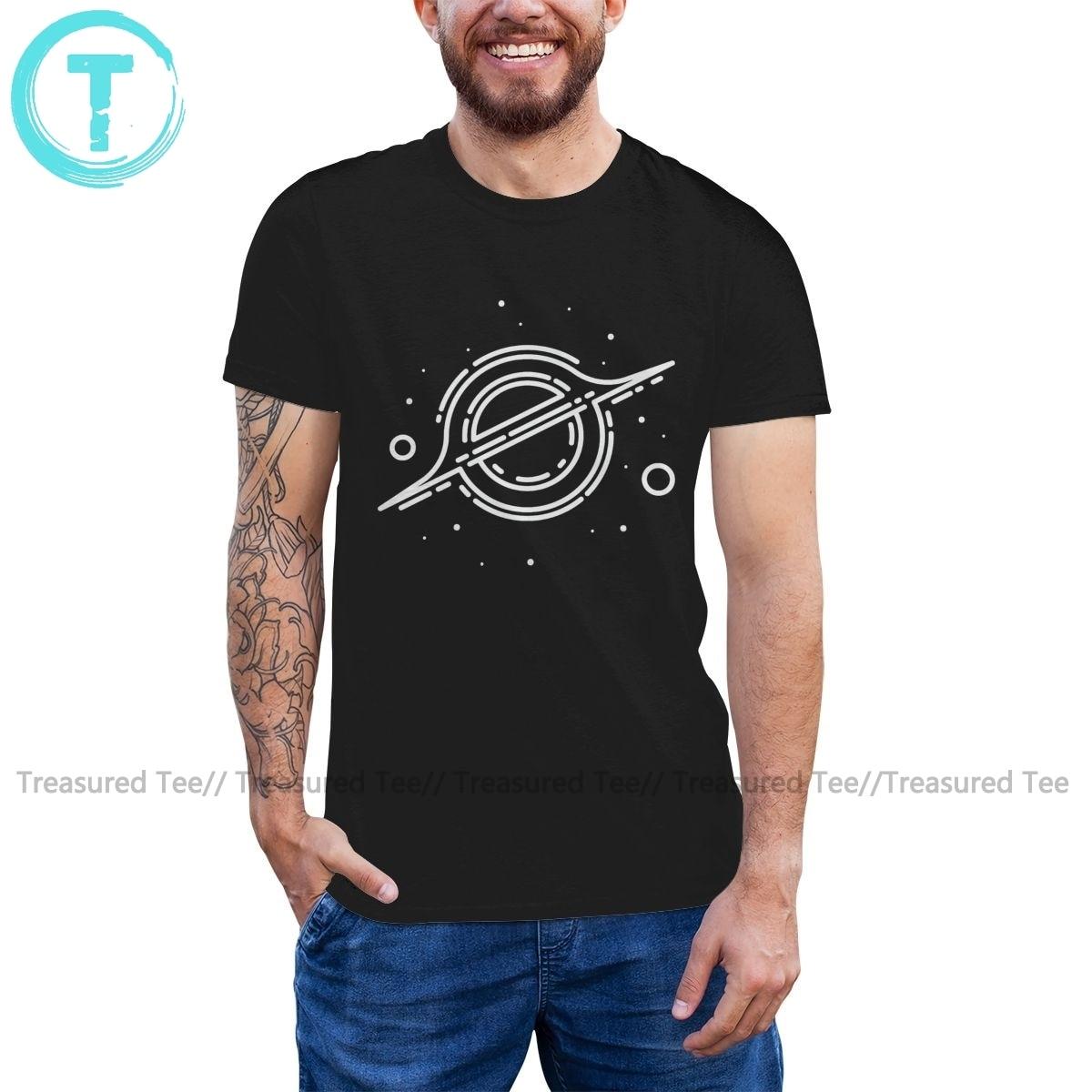 Interstellar T Shirt Gargantua T-Shirt Short-Sleeve Casual Tee Shirt XXX Funny Cotton Men Graphic Tshirt illuminati t shirt fashion brand dont trust anyone graphic tee letter print men t shirt casual funny shirt lw
