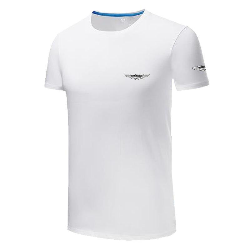 Camisetas de verano Aston Martin 100% de algodón de manga corta Camiseta cuello redondo streetwear