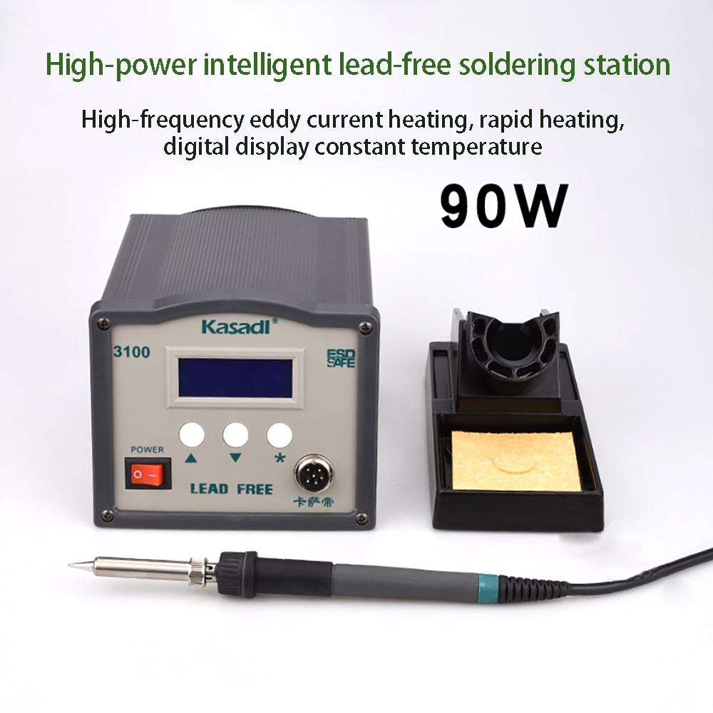 90w Large Display High Lead-free Eddy Current Anti-static Control Soldering Iron 3100 Smart Soldering Iron Soldering Station