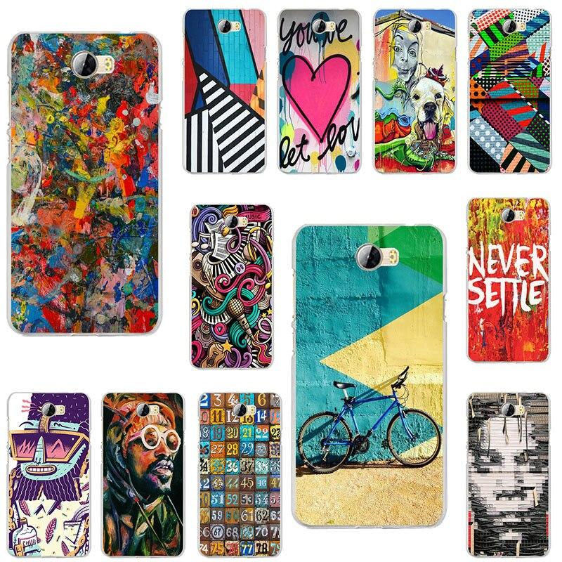 Divertido Graffiti dibujo arte de pared suave teléfono celular TPU casos para Huawei P7 P8 P9 Mini P10 P20 P30 inteligente Lite Plus 2017 de 2019