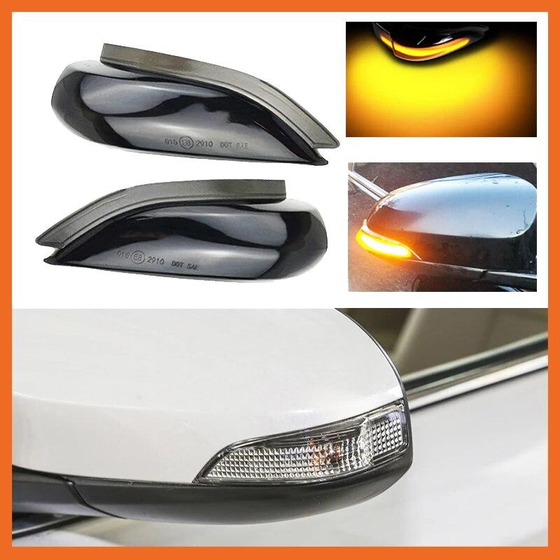 سيارة LED ديناميكية مرآة الرؤية الخلفية ضوء بدوره إشارة مؤشر لتويوتا كورولا يارس XP130 أوريس E180 كامري بريوس