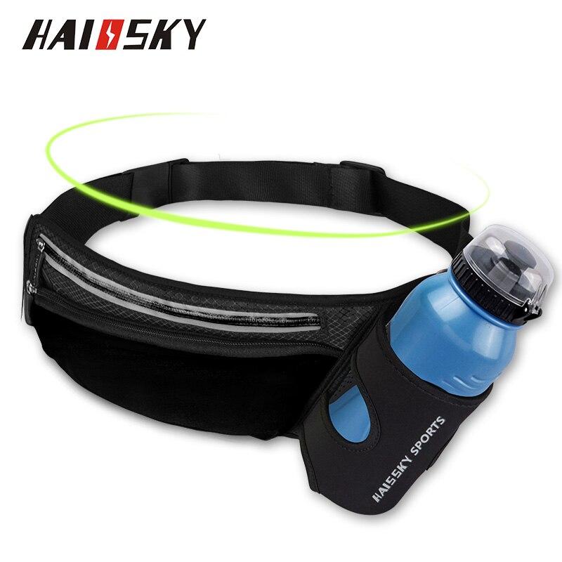 Riñonera para correr maratón con cremallera bolsas deportivas senderismo carrera Fitness hidratación cinturón agua botella bolsillos teléfono móvil riñonera