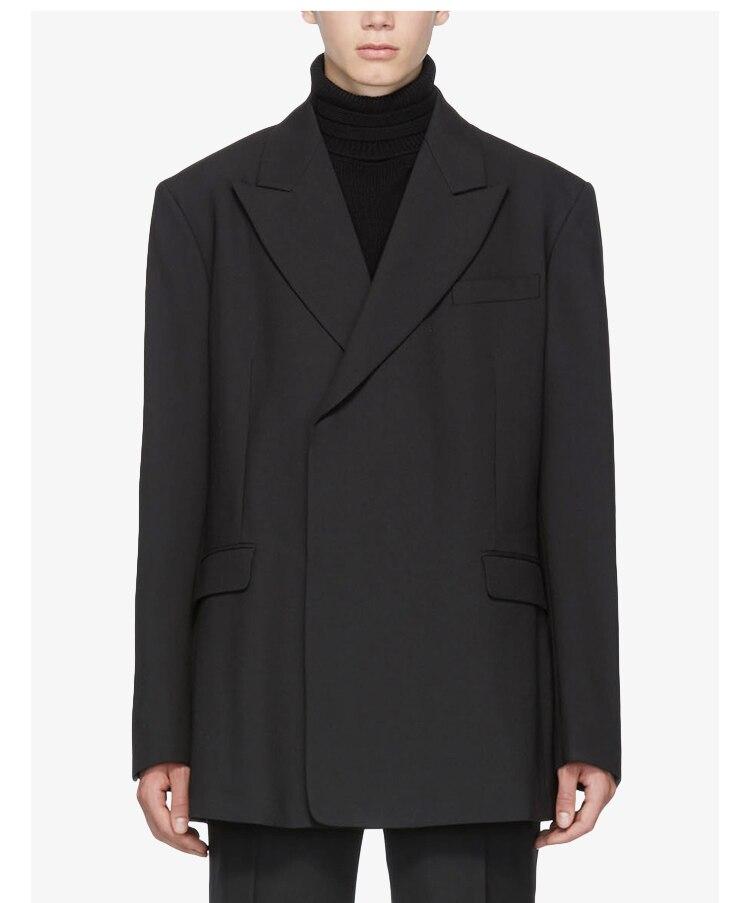 بدلة رجالية غير رسمية, بدلة رجالية بسيطة نمط ياماموتو داكن الربيع والصيف ملابس رجالية