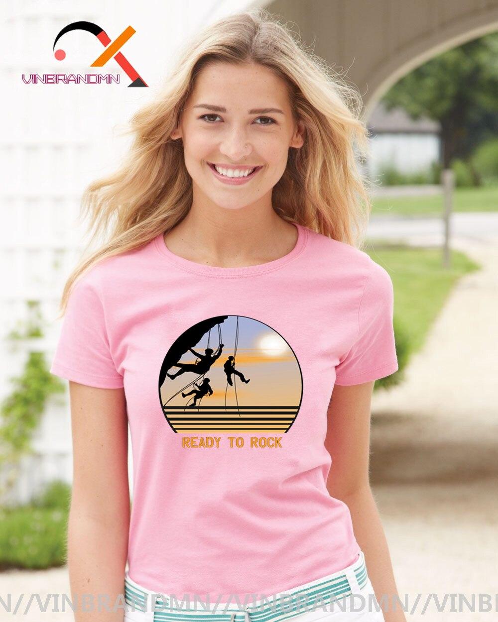 2020 Vintage Rock Climbing Camisetas Mujer Cool montaña senderismo camiseta Regalos divertidos para Deportes Aventura Climber Tees Camisetas