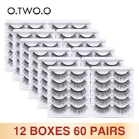 O.TWO.O False Eyelashes Wholesale 12 Lots Thick Volume Long Fake Lashes Eye Makeup Tools Fluffy Mink Eyelashes