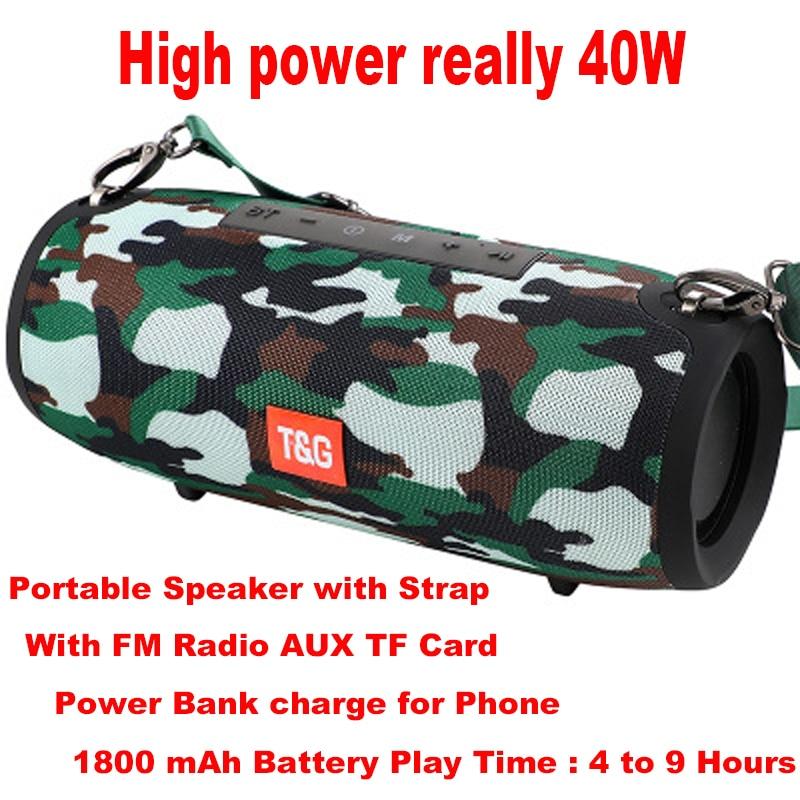 Altavoz Bluetooth de alta potencia 40W altavoz de columna portátil Bluetooth barra de sonido Super bajo estéreo Subwoofer centro de música con FM AUX