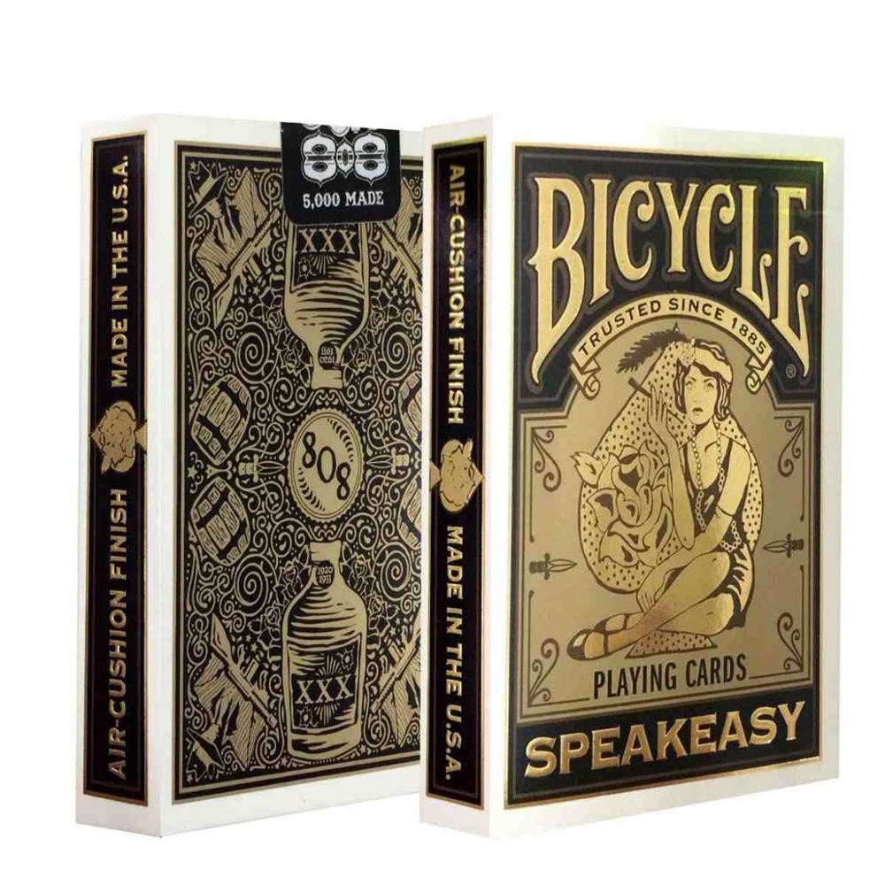 1 deck Bicycle Speakeasy Club 808 Bicycle Playing Cards Regular Bicycle Deck Rider Back Card Magic Trick Magic Props