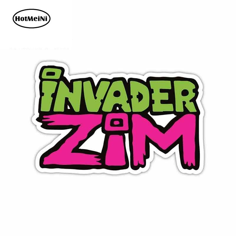 HotMeiNi 13 см x 8,5 см для Invader Zim автомобильные наклейки-логотипы виниловые JDM бампер багажник грузовик графика бампер Windows 3D DIY тонкая наклейка